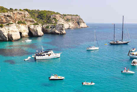 Weekender Breaks - Three night self catered Menorca break including flights - Save 34%