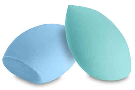 Ckent - Cosmetic blending sponge available in a flat bottom, hourglass or teardrop design - Save 75%