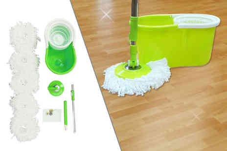 Partikle - Easy clean spin mop with five extra mop heads - Save 53%