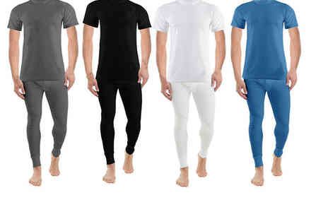 Groundlevel - Thermal long john and T shirt set choose from four colours - Save 70%