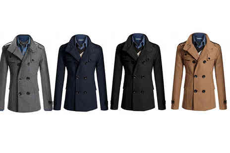 EF Mall - Mens slim fit casual jacket choose from four colours - Save 79%