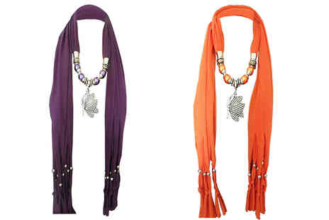 Shapelle - Butterfly Pendant Scarf Available in Two Colours - Save 38%