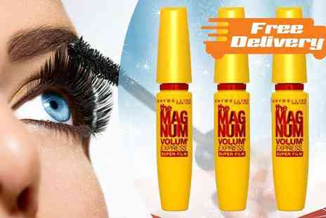 Mini Luxuries - Pack of Maybelline The Magnum Volume Express Mascaras With Free Delivery - Save 46%