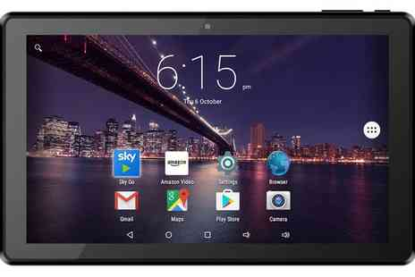 Groupon Goods Global GmbH - 10.1 Inch HD Quad Core 16GB Android 5 Sky Go Compatible Tablet with Free Delivery - Save 0%