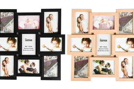 Groupon Goods Global GmbH - Nine Photo Pictures Photo Frame in Choice of Colour - Save 0%