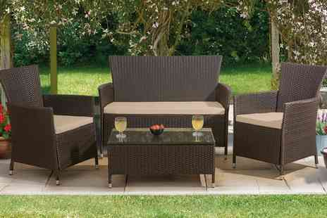 Groupon Goods Global GmbH - St. Lucia Four Piece Rattan Effect Set With Free Delivery - Save 0%