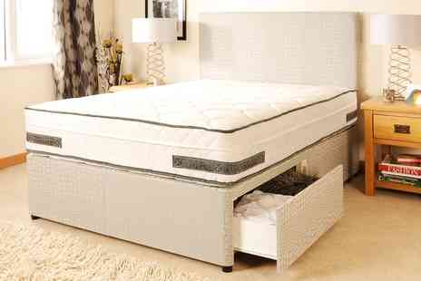 Groupon Goods Global GmbH - Boston Divan Set with Newfoundland Orthopaedic Mattress Include Free Delivery - Save 0%