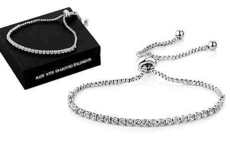 Groupon Goods Global GmbH - One or Two Solitaire Friendship Bracelet with Crystals from Swarovski - Save 0%