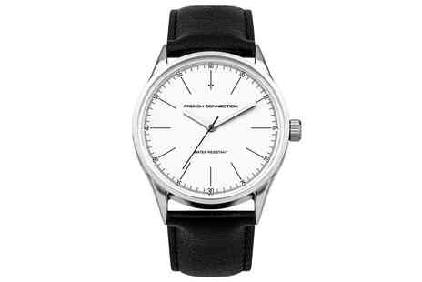 Groupon Goods Global GmbH - French Connection Mens Watch in Black With Free Delivery - Save 0%