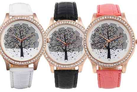 Groupon Goods Global GmbH - Womens Kara Tree Watch with Crystals from Swarovski - Save 0%
