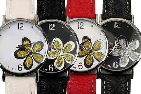 Groupon Goods Global GmbH - Dusky Flower Dial Watches - Save 0%