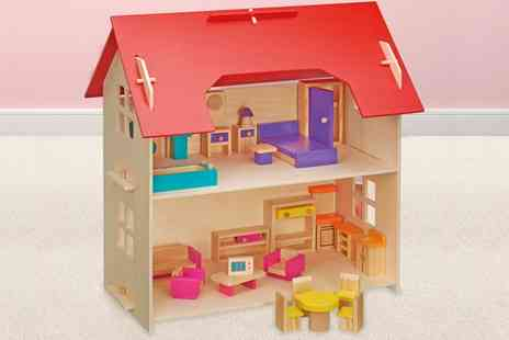 Groupon Goods Global GmbH - Doll House with 25 Piece Furniture Set - Save 0%
