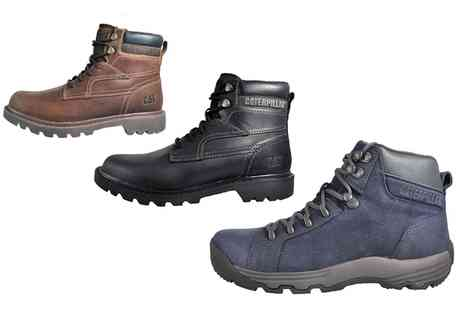 Groupon Goods Global GmbH - Caterpillar Mens Premium Leather Boots With Free Delivery - Save 0%