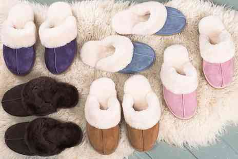 Groupon Goods Global GmbH - Womens Sheepskin Lined Slippers With Free Delivery - Save 0%