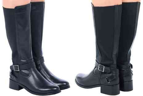 Groupon Goods Global GmbH - Womens Elasticated Wide Calf Boots - Save 0%