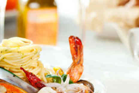 La Pietra - Meal for 2 including starters, main courses, side dishes, focaccia, a bottle of wine & coffee - Save 60%