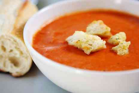 Java Square Coffee Co - Soup and Filled Baguette for Two or Four - Save 0%