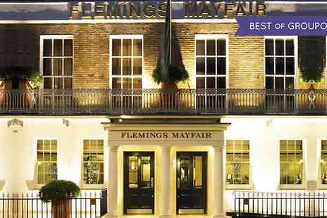 Flemings Mayfair Hotel - Afternoon Tea with Optional Champagne - Save 50%