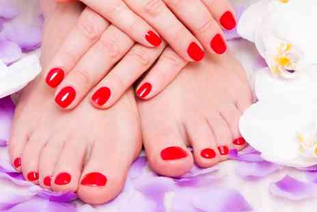 Nicky Beauty Salon - Shellac Manicure, Pedicure or Both - Save 44%