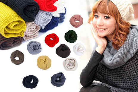 EF Mall - Knitted woollen neck scarf shawl choose from 11 colours - Save 63%