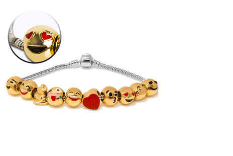 My Boutique Store - Emoji gold plated charm bracelet - Save 85%