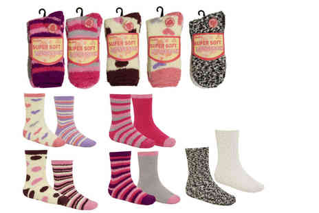 Stitch Trading - Pack of four cosy socks - Save 50%