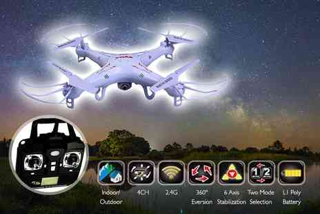 FDS Corporation - Remote controlled drone including a camera - Save 66%