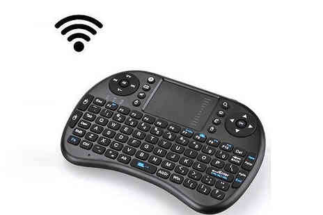Supreme Direct - Mini Wireless Keyboard Remote with Touchpad Compatible with TV, Xbox, PC and more - Save 35%