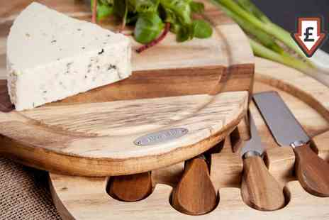 Groupon Goods Global GmbH - Natural Life Four Piece Cheese Board Set - Save 0%