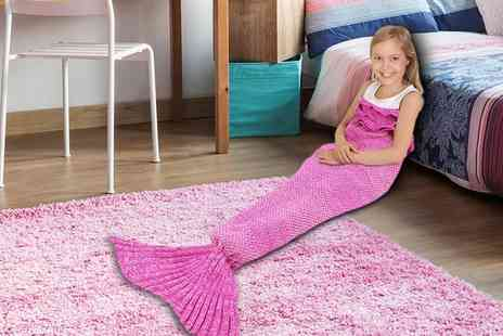 Groupon Goods Global GmbH - One or Two Kids Mermaid Tail Blankets - Save 0%
