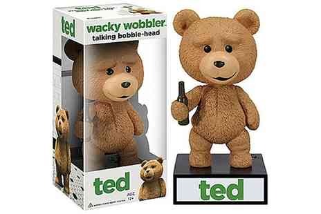 Groupon Goods Global GmbH - Wacky Wobbler Talking Ted Bobble Head Figure - Save 0%