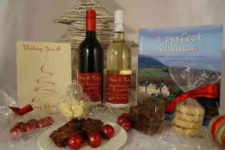 Coghlans Cookery School - Personalised deluxe Christmas hamper including wine, treats and a personalised gift card - Save 65%