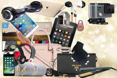 Ckent Ltd - Santas Mystery Gift products include a 49 Inch LG TV, Prada Handbag, iFrogz headphones and so much more - Save 0%