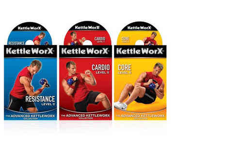 Ckent Ltd - Three KettleWorx workout DVDs or upgrade and include a 5lb Kettlebell - Save 55%