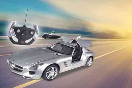 FDS CORPORATION - 1:14 licensed Mercedes Benz SLS AMG remote controlled car choose from red or silver - Save 69%