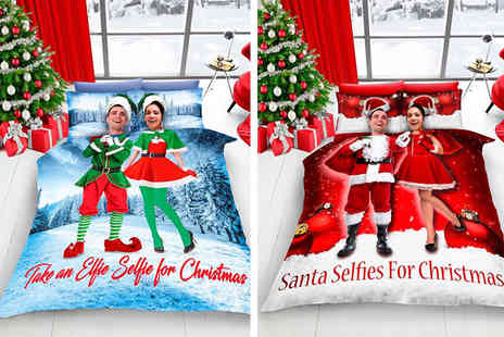 Groundlevel.co.uk - Christmas selfie duvet cover bed set - Save 66%
