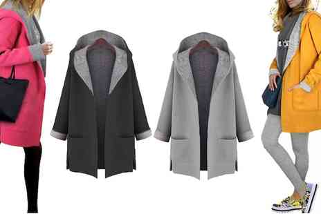 Groupon Goods Global GmbH - Contrast Hooded Coats - Save 0%
