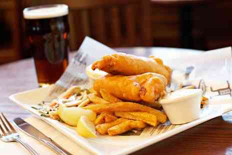 The Boat Inn - Fish and Chips with Half Pint of Beer for Two - Save 57%