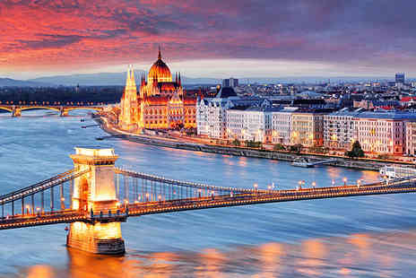 Crystal Travel - Two or three night 4 Star Budapest break with with return flights - Save 62%