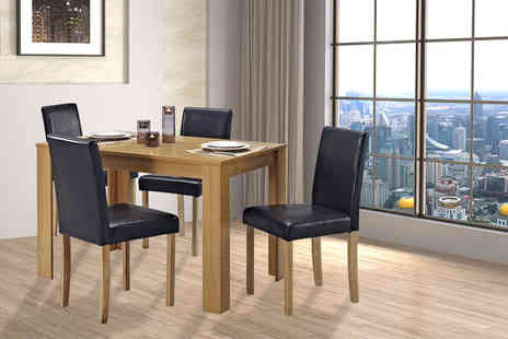 Limitless Base - Edward oak dining set - Save 81%