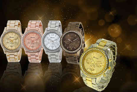 Solo Act - Womens Geneva boyfriend watch choose from five colours - Save 77%