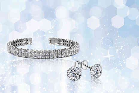 Solo Act - Tennis bracelet and earrings set - Save 83%