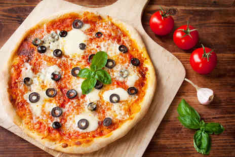 Paolos Pizzeria - Pizza dinner for 2 including a glass of Prosecco each - Save 59%