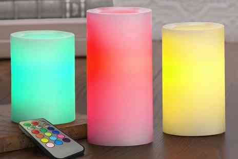 Groupon Goods Global GmbH - 6 or 12 LED Flameless Colour Changing Candles with Remote - Save 0%
