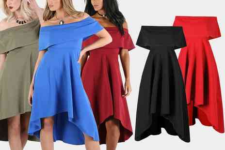 Groupon Goods Global GmbH - Be Jealous Off Shoulder Party Dress - Save 0%