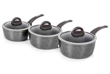 Groupon Goods Global GmbH - Tower Three Piece Forged Saucepan Set With Free Delivery - Save 70%