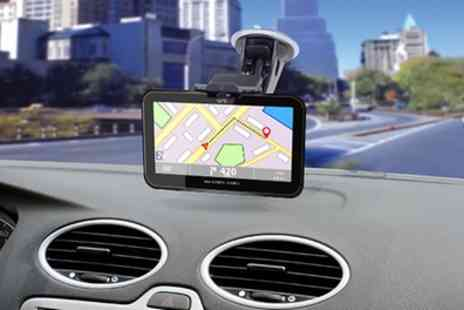 Groupon Goods Global GmbH - GoSmart GPS Navigation System With Free Delivery - Save 75%