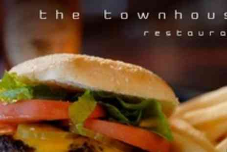 The Townhouse - Homemade Cheeseburger With Chips and Salad For Two - Save 50%
