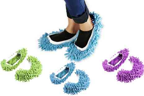 Groupon Goods Global GmbH - Microfiber Chenille Washable Mop Slippers - Save 0%