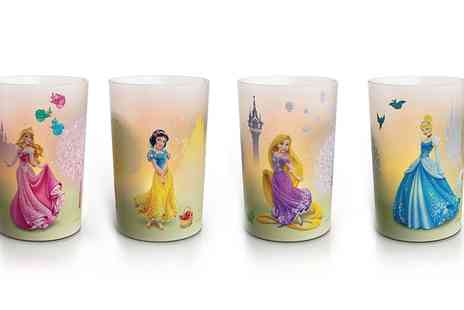 Groupon Goods Global GmbH - One, Two or Four Philips Disney Princess LED Candle Night Lights - Save 0%